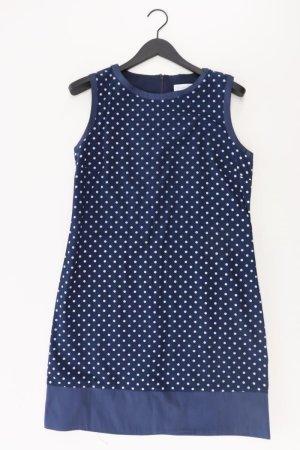 Barbara Schwarzer Kleid blau gepunktet Größe 40