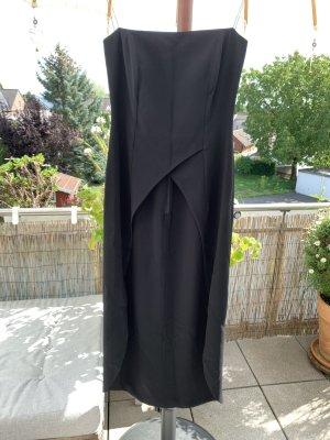 Barbara Schwarzer Kleid für elegante Hose, vorne offen, schwarz