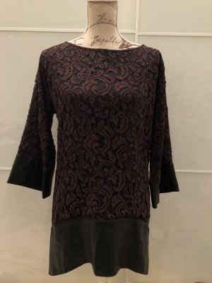 Barbara Schwarzer Longsleeve Dress brown violet-black