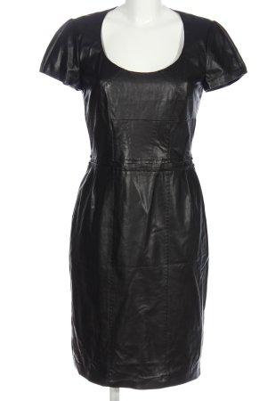 Barbara Schwarzer Robe en simili noir élégant