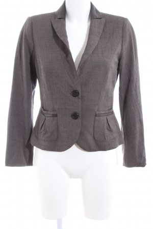 Barbara Schwarzer Short Blazer light grey flecked elegant