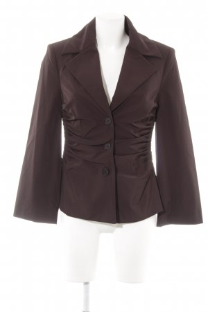 Barbara Schwarzer Short Blazer dark brown business style