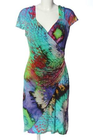 Barbara Schwarzer Sukienka z krótkim rękawem Abstrakcyjny wzór Elegancki