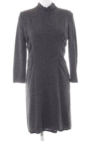 Barbara Schwarzer Robe à manches longues gris moucheté élégant