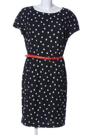 Barbara Schwarzer Robe courte noir-blanc motif de tache style d'affaires