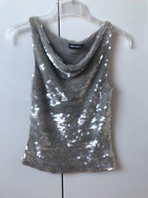 Barbara Schwarzer Sleeveless Blouse silver-colored