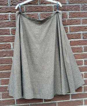 Barbara Schwarzer Flared Skirt grey brown viscose
