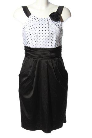 Barbarella Sukienka na ramiączkach czarny-biały Wzór w kropki W stylu casual