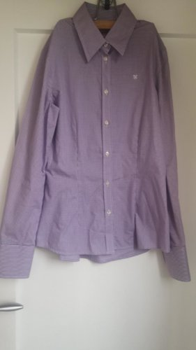 Barbour Bluse Business Gr 34 XS lila kariert
