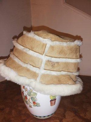 Barbour Cloche Hat beige-oatmeal angora wool