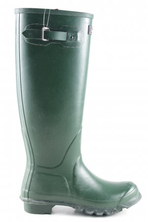 Barbour Wellies green casual look