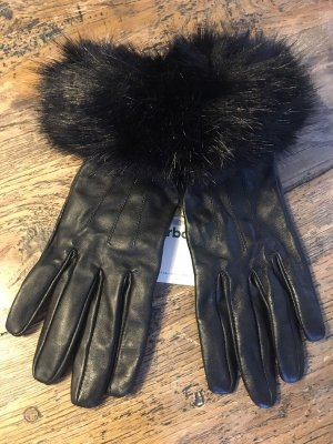 Barbour Leather Gloves black leather
