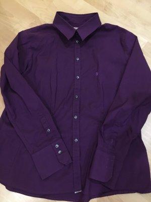 Barbour Blouse-chemisier violet foncé tissu mixte