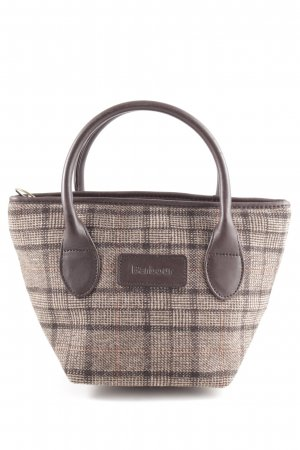 Barbour Carry Bag bronze-colored-cream check pattern business style
