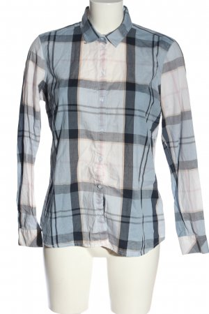 Barbour Lumberjack Shirt natural white-blue allover print casual look