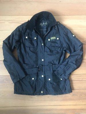 Barbour Biker Jacket black-gold-colored