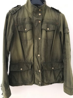 Barbour Waxed Jacket olive green