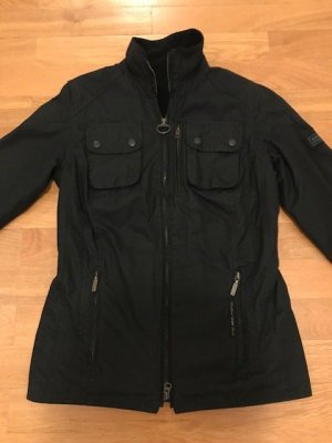 Barbour Waxed Jacket black cotton