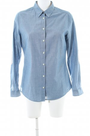 Barbour Long Sleeve Shirt blue flecked casual look