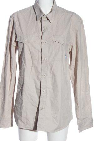 Barbour Chemise à manches longues blanc cassé style décontracté