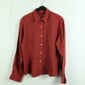 Barbour Linen Blouse red-dark red linen