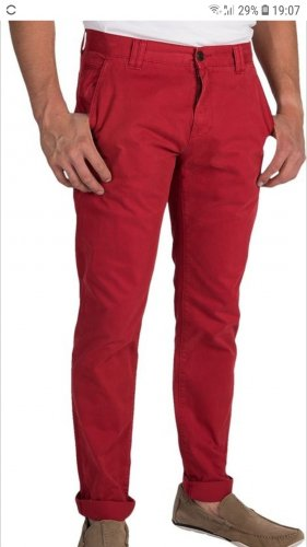 Barbour Mallan Chino red chilli 32LG