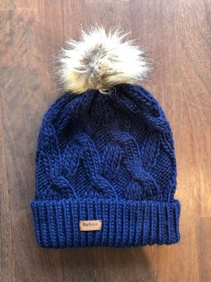 Barbour Knitted Hat blue