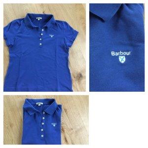 Barbour Polo blu acciaio-blu neon Cotone