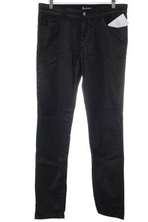 Barbour Pantalone a sigaretta nero stile casual