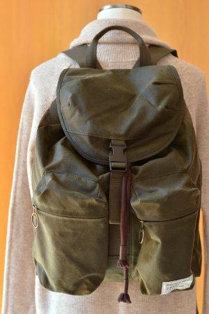 BARBOUR Rucksack unisex Oliv Backpack Vintagelook wie Neu Outdoor Etikett