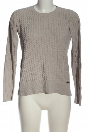 Barbour Crewneck Sweater brown flecked casual look