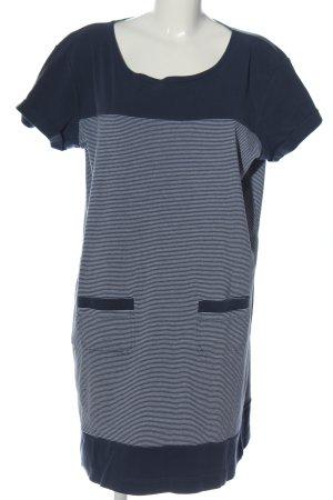Barbour Chemisier bianco-blu scuro motivo a righe stile casual