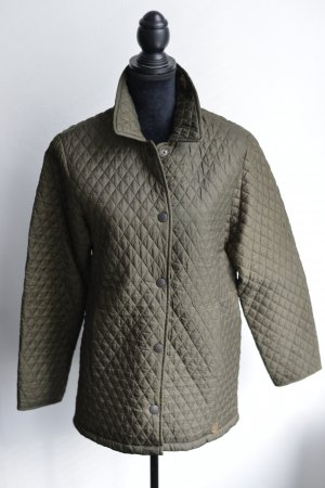 Barbour Quilted Jacket green grey polyester
