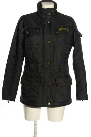 Barbour Pikowana kurtka czarny Pikowany wzór W stylu casual