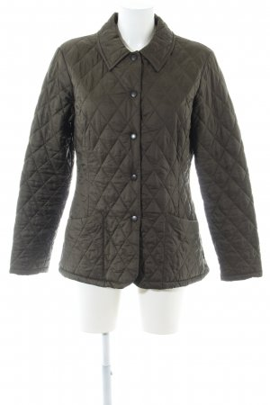 Barbour Quilted Jacket khaki quilting pattern casual look