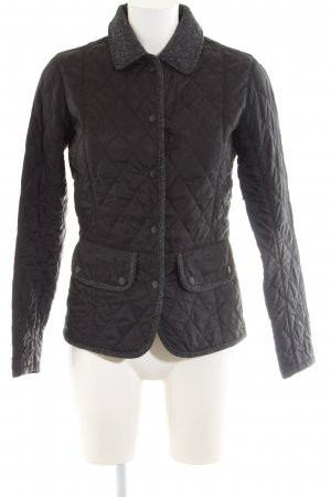 Barbour Quilted Jacket black quilting pattern business style
