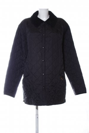 Barbour Steppjacke schwarz Steppmuster Casual-Look