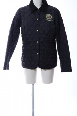 Barbour Quilted Jacket dark blue quilting pattern casual look