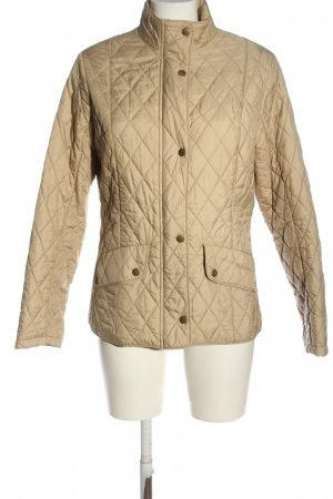 Barbour Quilted Jacket natural white quilting pattern casual look