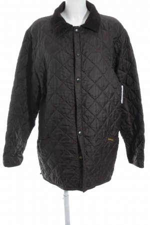 Barbour Quilted Jacket dark brown quilting pattern classic style