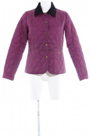 Barbour Steppjacke violett-schwarz Casual-Look