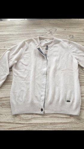 Barbour Cardigan natural white wool