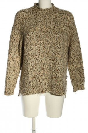 Barbour Knitted Sweater brown flecked casual look