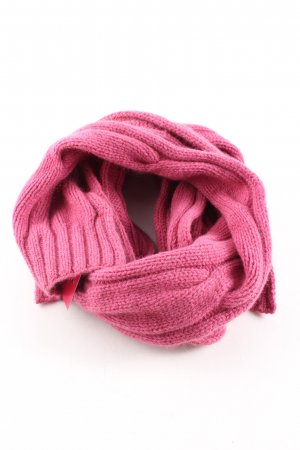 Barbour Knitted Scarf pink cable stitch casual look