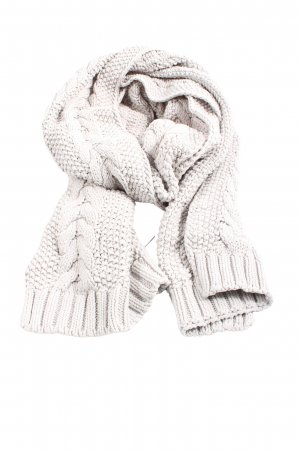 Barbour Knitted Scarf light grey cable stitch casual look