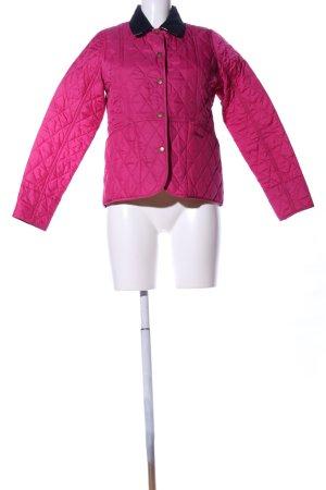 Barbour Veste mi-saison rose motif de courtepointe style décontracté
