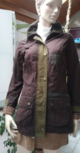 Barbour Waxed Jacket dark brown-olive green