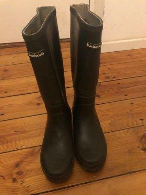 Barbour Snow Boots black-grey brown mixture fibre
