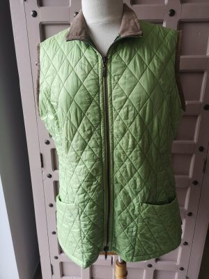 Barbour Quilted Gilet beige-lime-green