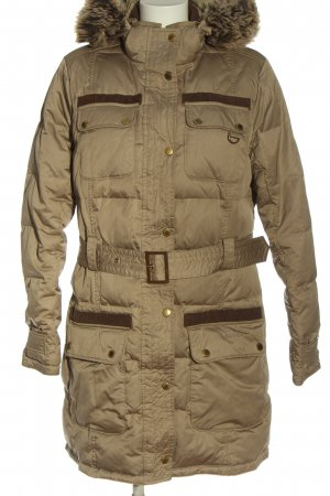 Barbour Winter Jacket brown quilting pattern casual look